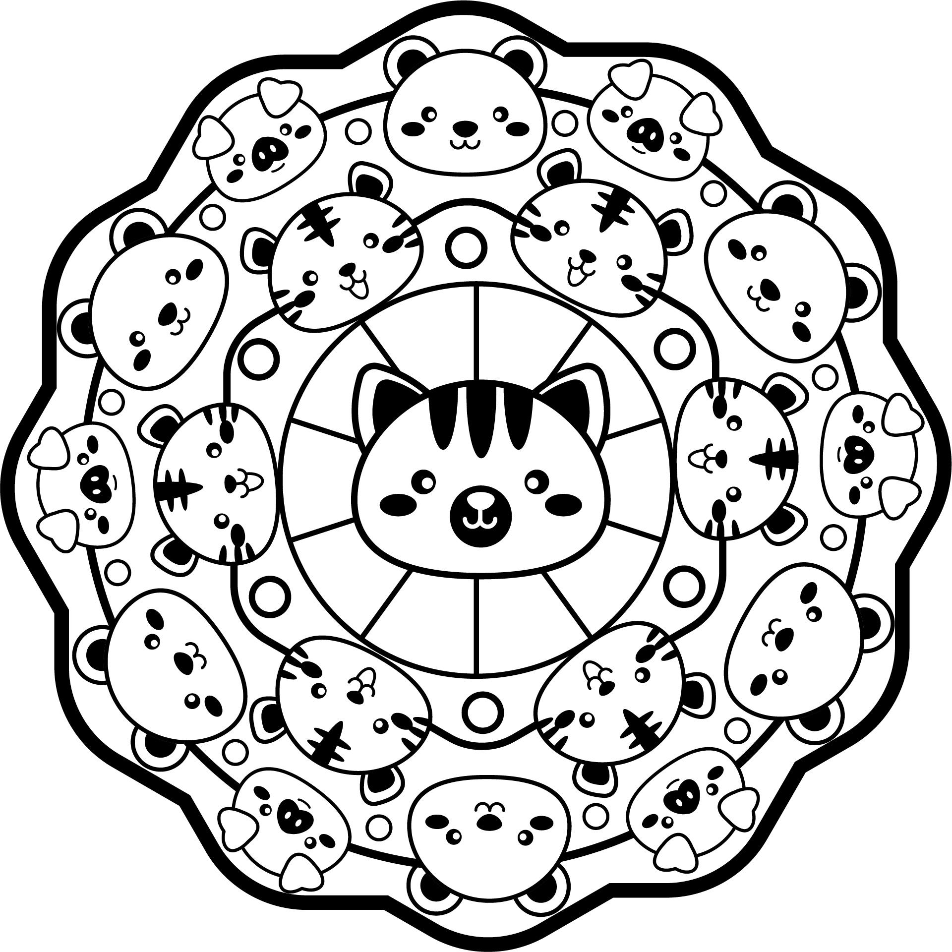 Mandala de Animales del Zoo 1 • IMPRIME MANDALAS